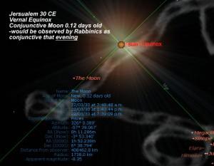 Jersualem 30 CE VE and moon