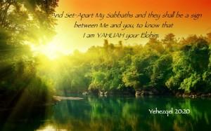 YHWH aet apart My Shabbats