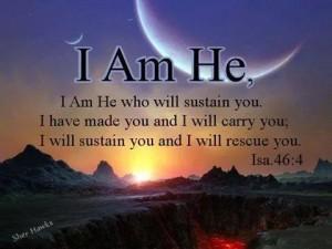 YHWH I Am HE ISA 46 V 4